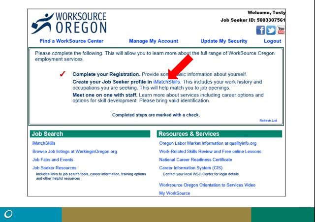 OED Unemployment   iMatchSkills Registration and Job Seeker Profile…